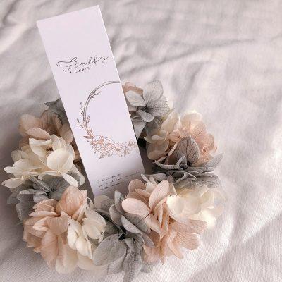 fluffy flowers フラワーリース
